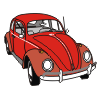 vw brouk red clipart